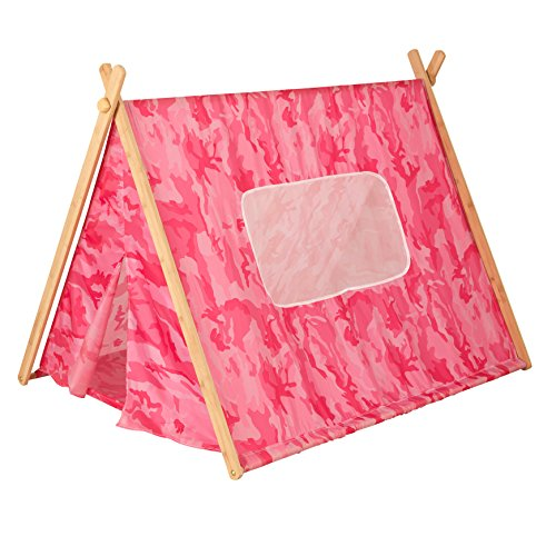 Price comparison product image KidKraft Camo A-Frame Tent,  Pink