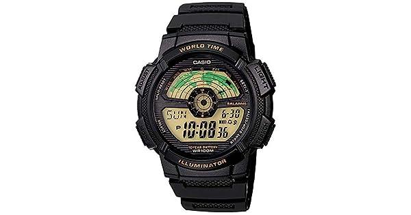 edb639adf90 Relógio Casio Illuminator Ae1100w-1bvdf Hora Mundial + Calendário e Alarme   Amazon.com.br  Amazon Moda