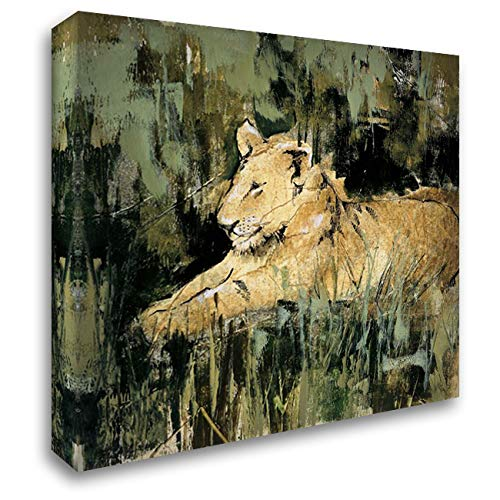 Heart of The Jungle IV 20x20 Gallery Wrapped Stretched Canvas Art by Jardine, Liz