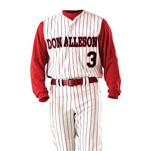 Alleson Youth Pinstripe Vest Baseball Jersey (Baseball Full Vest Button Jersey)