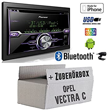 Opel Vectra C Charcoal de 2 din - Radio Pioneer fh-x720bt USB Bluetooth CD Auto Radio Android iPod/iPhone de control directo - Empotrable Set: Amazon.es: ...