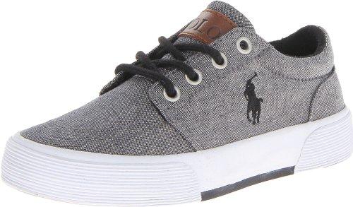 Polo Ralph Lauren Kids Faxon ll Lace-Up Sneaker (Little Kid/Big Kid),Gray,10.5 M US Little Kid