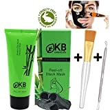 included Blackhead Remover Mask Gift Brush tool Kit included Charcoal Face Mask Deep Detox black mask purifying peel off mask by Koolbabyessentials Reduces Pores Pimple black peel off mask