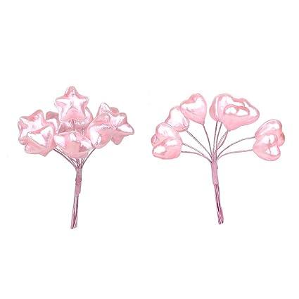 2pcs Romantic Love Cake Insert Stars Small Balloon Cake Decoration