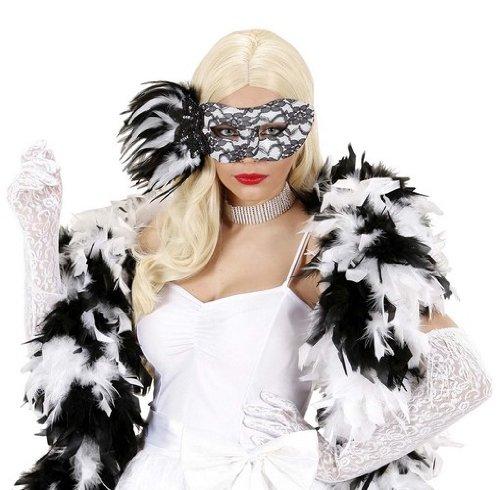 (Lace Eyemask Withsequin Rose & Feathers Traditional Acapulco Masks Eyemasks &)