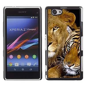 - FELINE FRIENDS CUTE AFRICA LION TIGER BABY - - Monedero pared Design Premium cuero del tir???¡¯???€????€?????n magn???&rsqu