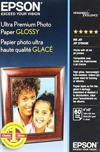 Epson Ultra-Premium Glossy Photo Paper, 79 Lbs., 8-1/2 X 11,