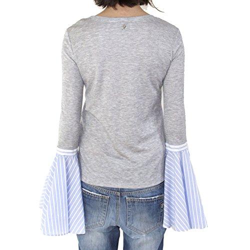Dondup Damen S716JF201DXXX903 Grau Baumwolle Sweater sC3iSL