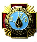 Russian CHERNOBYL LIQUIDATOR Medal & Pin Badge USSR Soviet Union Nuclear Tragedy