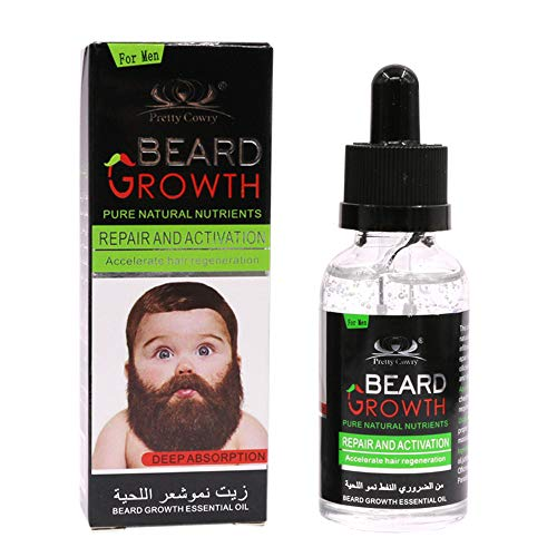 (Newkelly Facial Whiskers Nutrition Moustache 40ML Men Liquid Beard Growth Fast Enhance)