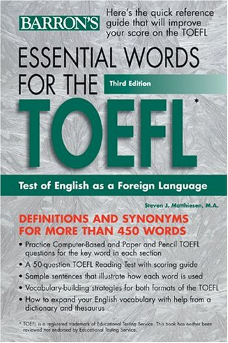 Essential Words for the TOEFL by Barron's Educational Series