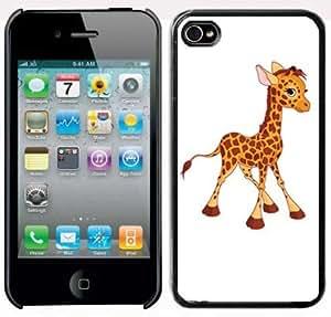 Apple iPhone 5 5s Black 5B17 Hard Back Case Cover Cute Baby Giraffe