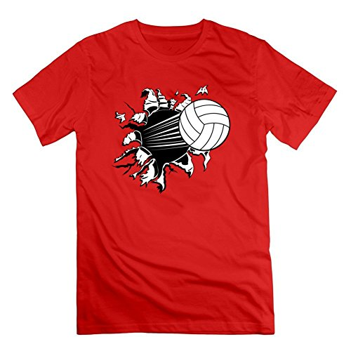 Price comparison product image Jermaijohn Red Xx-large Styling Volleyball Top-shirt For Men