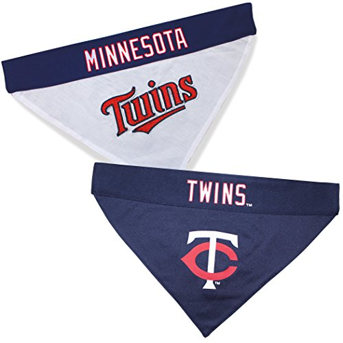 Pets First TWN-3217-L-XL MLB Minnesota Twins Reversible Pet Bandana, Large/X-Large, MLB Team -