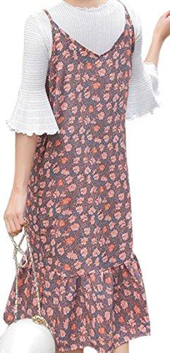erdbeerloft - Vestido - Floral - Sin mangas - 100 DEN - para mujer