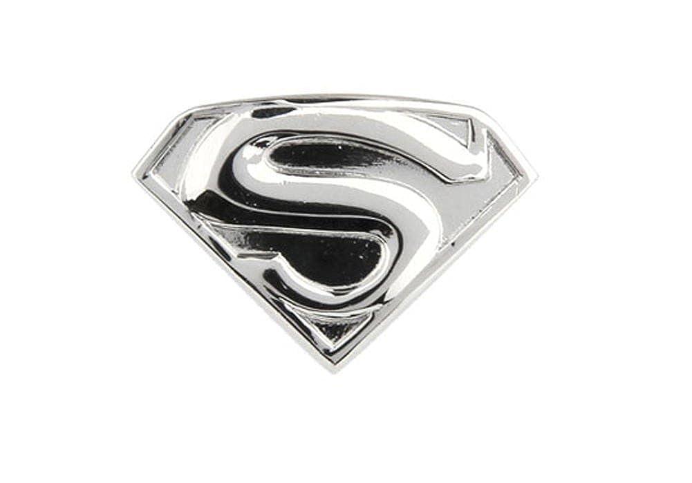 Williams and Clark Silver Superman Shield Super Hero Man Lapel Pin Tie Tack Show Off Your Hero