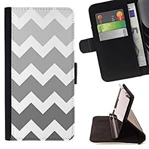 For HTC ONE A9 Black White Silver Chevron Pattern Style PU Leather Case Wallet Flip Stand Flap Closure Cover