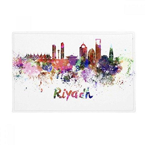 "Riyadh Saudi Arabia City Watercolor Anti-slip Floor Mat Carpet Bathroom Living Room Kitchen Door 16""x30""Gift"