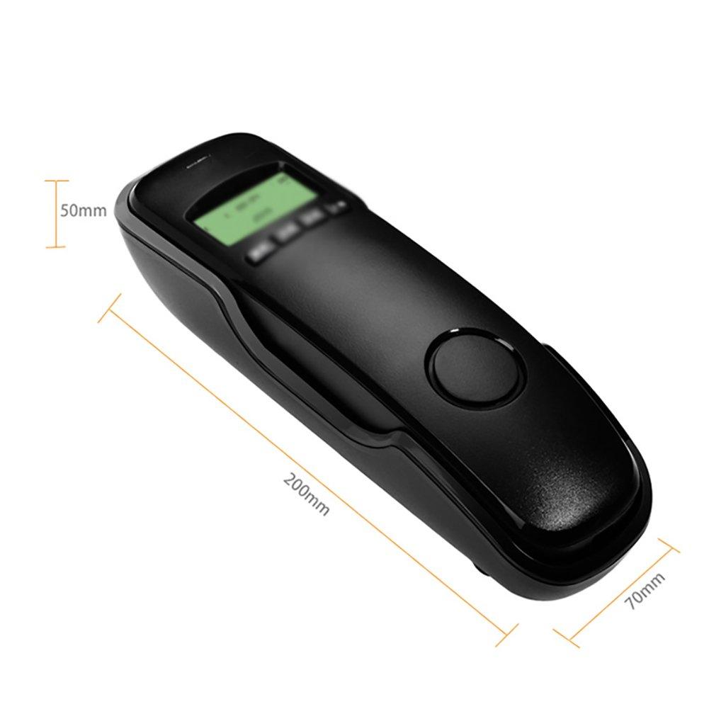 Farbe : Schwarz F-Landline Wandtelefon , Festnetz-Anrufer-ID B/üro Home Hotel Mode Telefon Altes Telefon Einfach zu bedienen