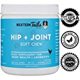 Western Tails Hip & Joint Soft Treat: Glucosamine for Dogs + Chondroitin + Yucca + Organic Turmeric + MSM + Vitamin E, Dog Supplement for Hip and Joint Pain, Hip Dysplasia, Arthritis, Made in USA