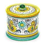 Arte D'Italia Imports Hand Painted Raffaellesco Biscotti Jar - Handmade in Deruta