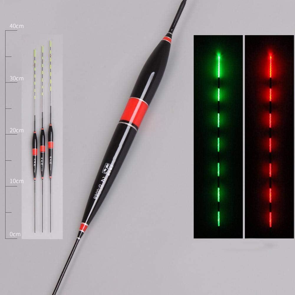 mit Knopfbatterie Eillybird LED Posen Raubfischposen Friedfischposen Nacht Leuchtende Schwimmer Schwimmt Led-Licht Automatisch Erinnern Schwimmer