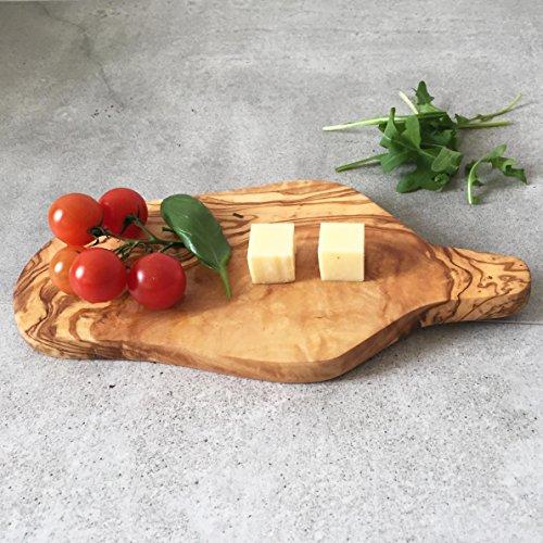 Small Cutting Board Olive Wood / Herbs Board / oval shape, h