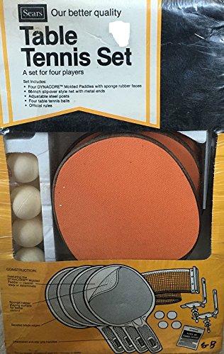 Amazon Com Vintage Table Tennis Set 4 Players Sports