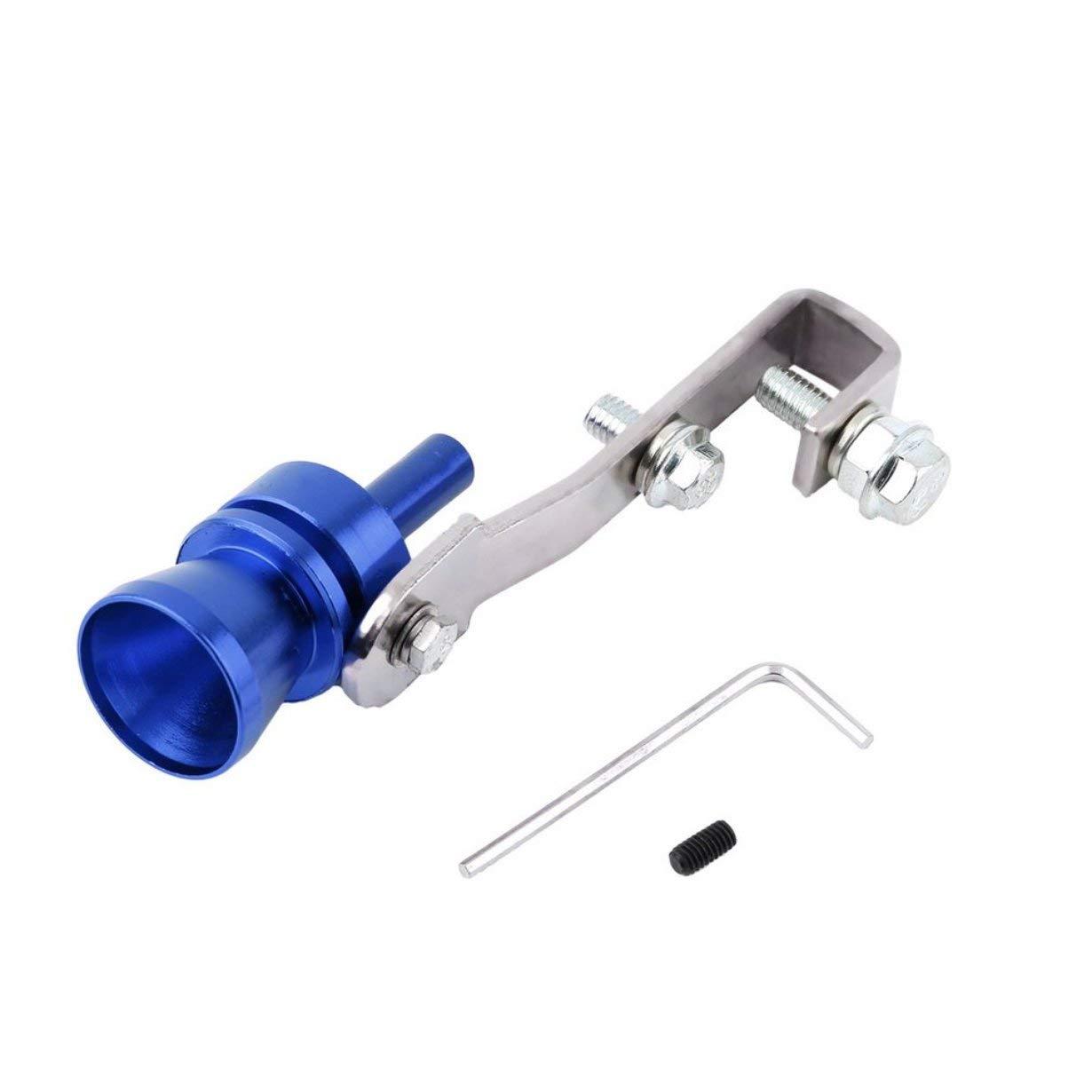 Alluminio universale auto Auto BOV Turbo suono fischietto tubo suono simulatore tubo tubo di scarico marmitta tubo UniqueHeart