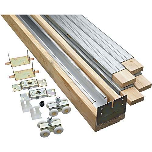 National Hardware N186-858 882 Pocket Door Hardware in Aluminum Rail