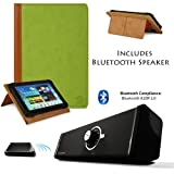 Executive Professional Looking Portfolio Book Cover with Stand For HP SlateBook X2 10.1 inch Android 4.2 (Jelly Bean) Tablet + Supertooth Disco Bluetooth Speaker with AUX Cable