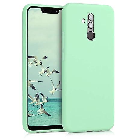 kwmobile Funda para Huawei Mate 20 Lite - Carcasa para móvil en TPU Silicona - Protector Trasero en Menta Mate