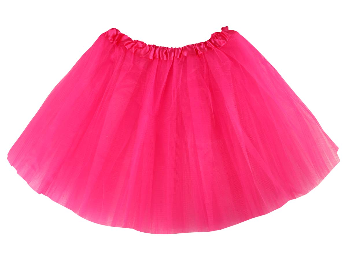 Carnevale Sottoveste Costume Ballerina Principessa Gonna in Tulle Balletto Classico Rosso Tutu per Bambina