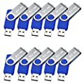 MECO 10Pcs USB 3.0 Flash Drive Memory Stick Fold Storage Thumb Stick Pen Swivel Design 32GB 16GB 8GB 4GB by MECO CO.,LTD