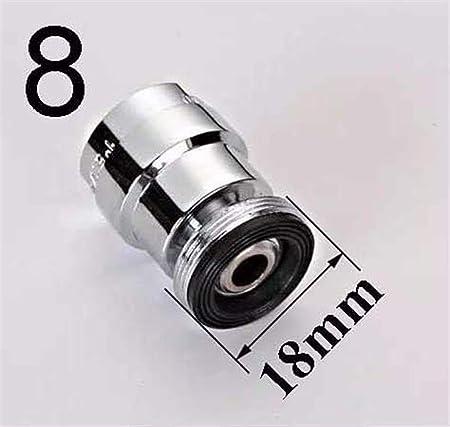Color : 18mm female 24mm 360 degr/és pivotant A/érateur f/éminin ou un filetage m/âle brita Filtre brita Laiton adaptateur de robinet 12//14//16//18//20//22