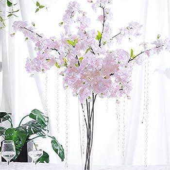 Amazon.com: PARTY JOY 4Pcs Artificial Cherry Blossom Branches ...