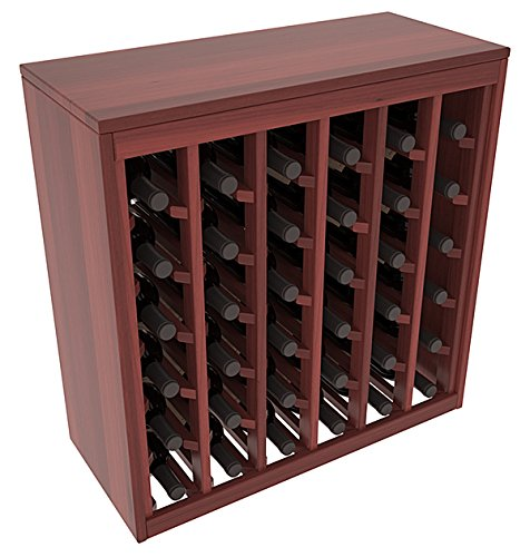 (Wine Racks America Redwood 36 Bottle Deluxe. Cherry Stain + Satin)