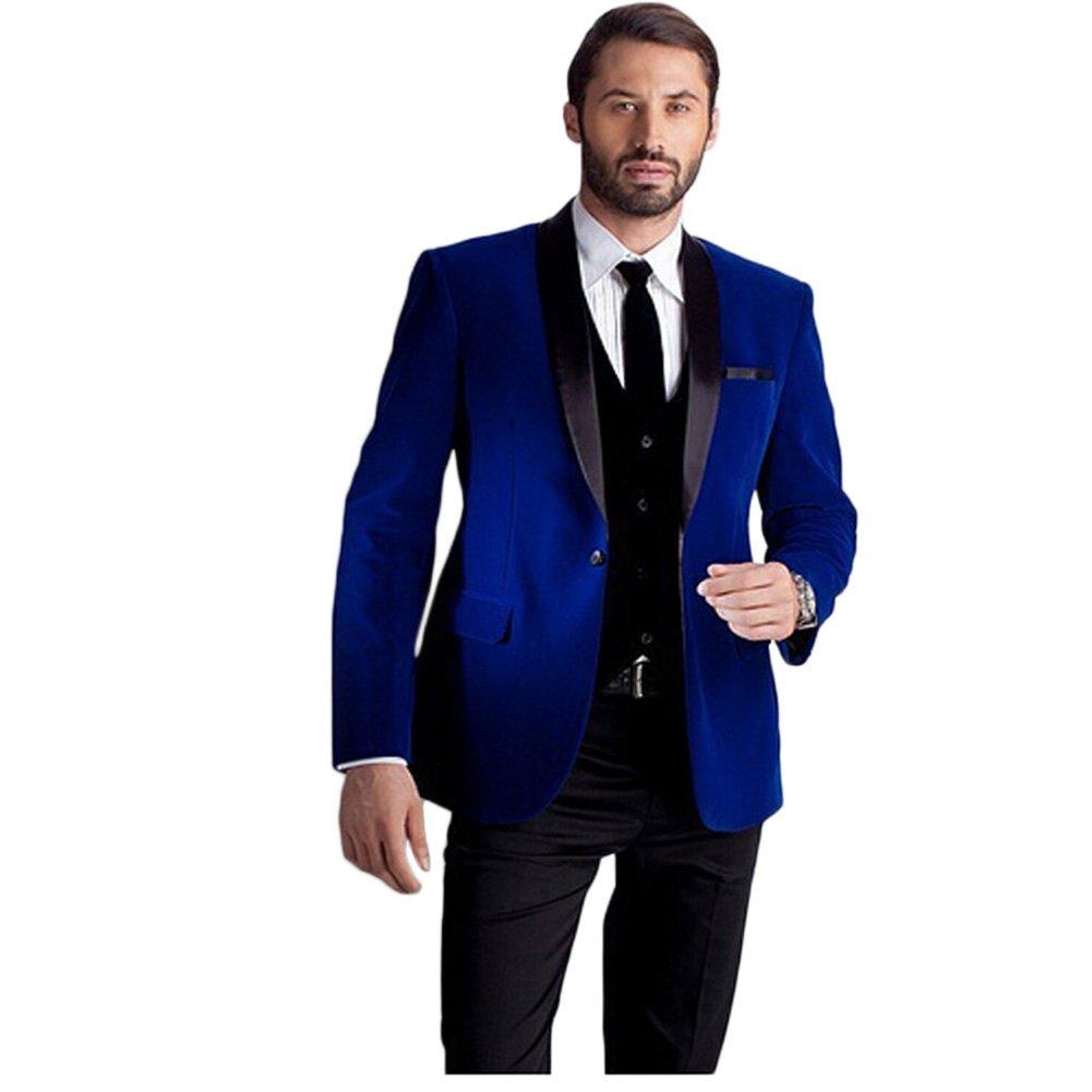 Amazon.com: botong 3 piezas mantón de boda trajes traje ...