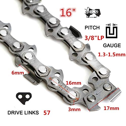 Shoppy Star 10 & quot; -20 & quot; 40-72 Drive Link 0.325 3/8 Cadena de paso para sierras de motosierra Piezas de repuesto...