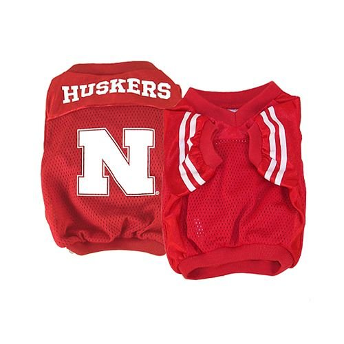 Sporty K9 Collegiate Nebraska Cornhuskers Dog Football Jersey, X-Small (Ncaa Dog Jersey Shirt)