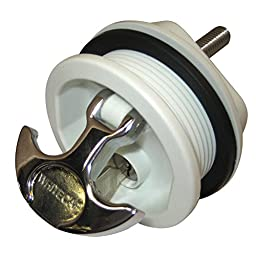Whitecap Industries S-226WC Chrome Plated Zamac and White Nylon Keyed Lock T- Handle Latch