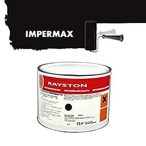 Impermax - Pintura líquida para estanque (2,5 kg), color negro