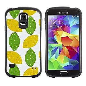 """Pulsar iFace Series Tpu silicona Carcasa Funda Case para Samsung Galaxy S5 , Lunar de la cal del arte Hojas Patrón"""""""