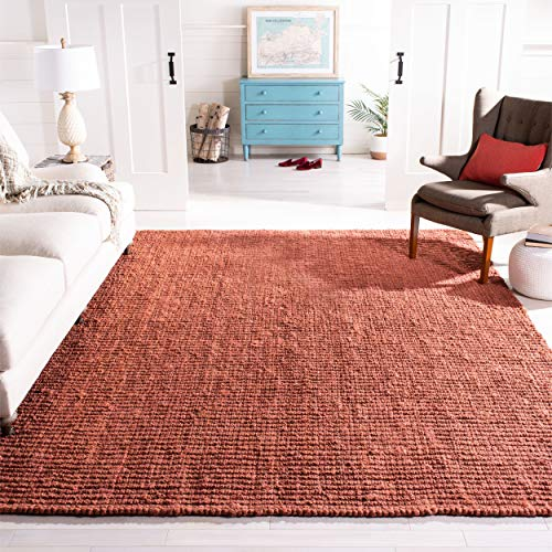 - Safavieh Natural Fiber Collection NF447C Hand Woven Rust Jute Area Rug (8' x 10')