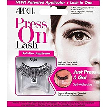 f2294ef604e Amazon.com : Ardell Self-Adhesive Press On Lash - 105 Black : Beauty