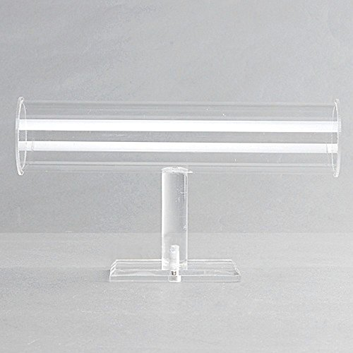 Luxuriant July Clear Acrylic Removable Bangle Bracelet Display Hovering T-Bar Bracelet Necklace Jewelry Display Stand for Home and Shop Organization (Acrylic Watch Bracelet)