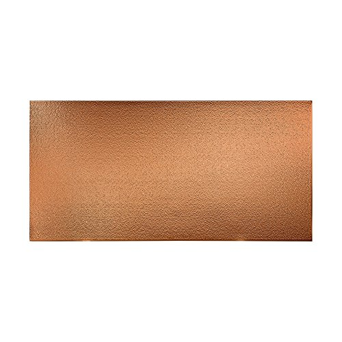 Fasade - Hammered Polished Copper Decorative Wall Panel - Fast and Easy Installation (4' X 8' Panel) (Panels Copper Decorative)
