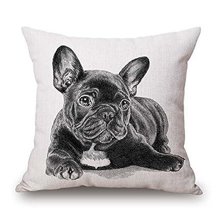 """16 x 16 """"/40 por 40 cm perro almohada casos ambos lados adorno"""