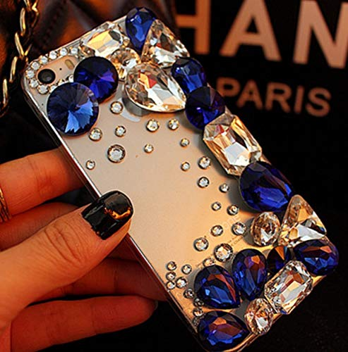 Samsung S9 Superb Jewels Case,Samsung S9 Rhinestone Case,Luxury Colorful Crystal Rhinestone Big Gem Diamond Bling Clear TPU Back Phone Case Cover ()