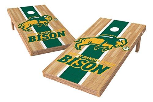 Wild Sports NCAA College North Dakota State 2' x 4' Hardwood Authentic Cornhole Game Set Dakota Chandelier